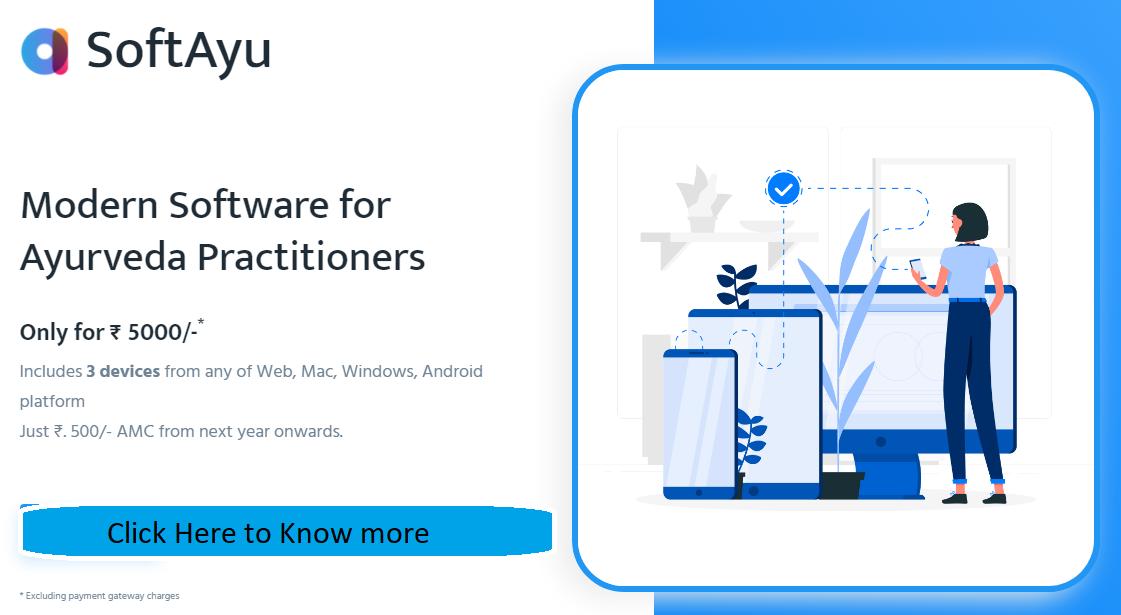 Softayu - Modern Software for Ayurveda Practitioners